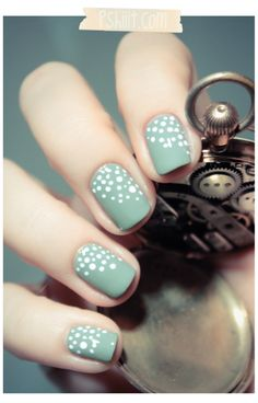 simple dots with a dotting tool but pretty