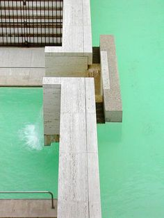 Salk Institute. La Jolla, California. 1962. Louis Kahn #60s #bymariestore #art #artconcept #photography #california #white #green #design #graphic #architecture
