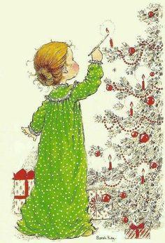 Sarah Key, Vintage Christmas Cards, Christmas Images, Christmas Art, Vintage Cards, Christmas Girls, Holly Hobbie, Clipart Noel, Mary May