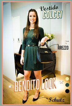 Bendito Look - vestido verde - Bendita Inspiração #vestido #dress #comportado #colcci #arezzo