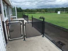 Perforated Metal Handrailing & Gate  Perforated steel is extremely versatile and applies itself to a variety of applications such as balustrade infill panels, railings infill panels, acoustics and sound proofing, security screens, louvres and ventilation, and air conditioning grilles.    #sheet #steel #perforatedmetal #mesh #sheets #metal #handrail #perforated Steel Gate Design, Security Screen, Metal Railings, Perforated Metal, Shop Fittings, Outdoor Kitchens, Metal Mesh, Sound Proofing, Stage Design