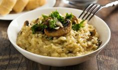 Slow Cooker Mushroom Risotto is a very hearty meal in one! Of course if your into meat and want to make it even heartier - feel free to add some beef strips or similar. Slow Cooker Recipes, Cooking Recipes, Healthy Recipes, Mushroom Risotto, Kitchen Recipes, Easy Cooking, A Food, Stuffed Mushrooms, Cheese