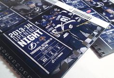 Tampa Bay Lightning 2013-14 Season Ticket Collateral on Behance