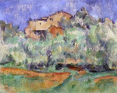Maison de Bellevue et pigeonnier 1890-92 Cezanne Oil on canvas Folkwang museum