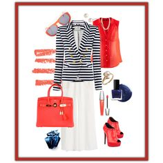 Marine stripes & coral, created by Look By Amina Allam