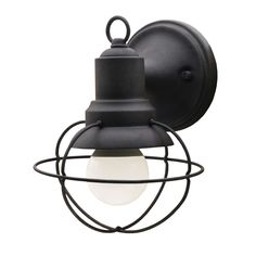 Aztec One Light Exterior Outdoor Cage Industrial Farmhouse Wall Mount, Black You are in the right place about outdoor lighting pool Here we offer you the most beautiful pictures about the outdoor ligh Industrial Light Fixtures, Outdoor Light Fixtures, Industrial Lighting, Gooseneck Lighting, Dim Lighting, Outdoor Lighting, Landscape Lighting, House Lighting, Lighting Ideas