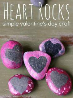 9 Heart-tastic Crafts for Kids: Heart Rocks