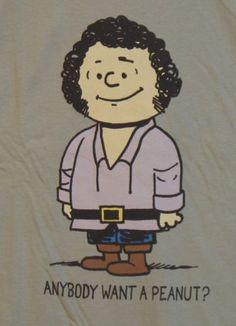 New Teefury Anybody Want A Peanut Princess Bride Andre Brown Unisex T Shirt L | eBay