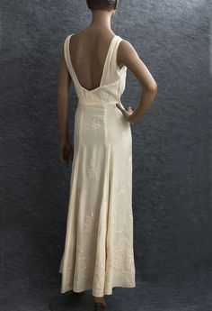 1930s Clothing at Vintage Textile: #2710 Evening dress