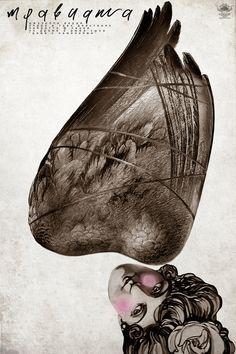 Photomontage opera poster - unique take on the plot line.
