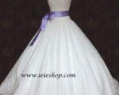 Halter Blush Pink Ball Gown Wedding Dress with Organza by ieie