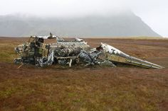 During the Falklands War many British & Argentine aircraft crashed on South Georgia and the Falklands Islands. Their wrecks & crash sites can still be seen.