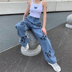 Loose Jeans, Wide Leg Jeans, Loose Fit, Boyfriend Jeans, Mom Jeans, Ladies Jeans, Jeans Women, Women's Jeans, Straight Trousers
