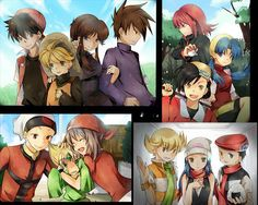 Pokespe Top Left: Red,Yellow,Blue,Green Top Right:Gold,Chrystal,Silver Bottom Left: Ruby,Emerald,Sapphire Bottom Right: Pearl,Platinum,Diamond