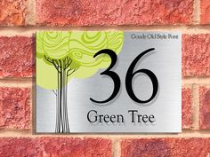 Aluminium Plaques | Green Tree  Design
