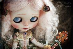 The eyes of the ogress by Rebeca Cano ~ Cookie dolls, La petite ogresse Prudence et son oie Casilda www.cookie-dolls.com