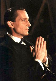 The late, great Jeremy Brett.  Absolutely the quintessential Sherlock Holmes and such a brilliant actor.