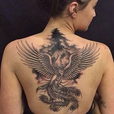 phoenix-tattoo-black-and-grey-on-back