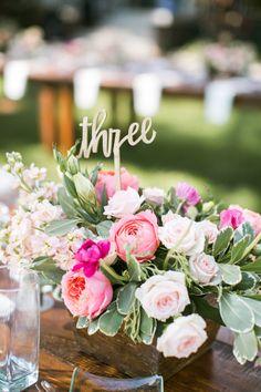 Wedding table numbers: http://www.stylemepretty.com/little-black-book-blog/2017/03/08/colorful-destination-maui-wedding/ Photography: Jasmine Lee - http://jasmineleephotography.com/