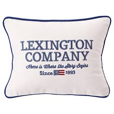 Buy Lexington The Spring Collection 'Home is Where the Story Begins' Sham Cushion Cover and Pad from our Cushions range at John Lewis & Partners. Lexington Company, East Coast Style, New England Style, Cushions, Pillows, Spring Collection, Home Textile, Pillow Shams, The Hamptons