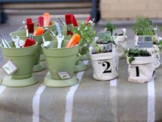 Wedding Gifts and Favors for DIY Gardener Couples >> http://blog.diynetwork.com/maderemade/2013/06/05/wedding-registry-ideas-for-diy-couples/?soc=pinterest
