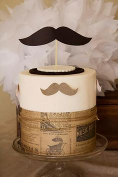 Little Big Company   The Blog: Moustache Party Dessert Buffet for a 40th Birthday by Naatje Patisserie Cupcakes & Cakes and Nomie Boutique Stationery