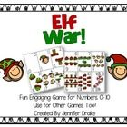 Ready, set....WAR!  Elf war, that is! Looking for a fun and engaging math or game center this holiday season to review and practice comparing numbe...