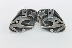 RARE Vintage Taxco Mexican Modernist Salvador Teran Sterling Silver Belt Buckle | eBay