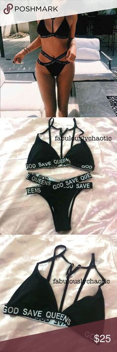 NWOT Brand New Kylie Jenner Bikini - Brand new with protectant seal! - NEVER been used before - Tag says size Large, fits like MEDIUM - Top is Medium, Bottoms are size Medium - New WITHOUT tags  Price is FIRM ✨   Similar Brands: Tommy Hilfiger, Calvin Klein, Adidas, Nike, Michael Kors, Louis Vuitton, Bikini, Two Piece, Supreme, Brandy Melville, Vetements, Morphe, Too Faced, Urban Decay, Unicorn, Mermaid, Kylie, Jeffree, Tarte, Lululemon, Victoria's Secret, PINK Swim