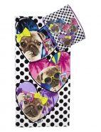 Pug Selfie Beach Towel with Tote