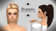 ROMERO HAIR at Ivo-Sims via Sims 4 Updates