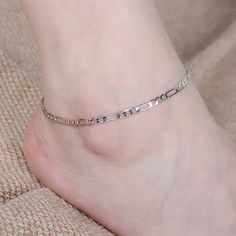 Chain anklet A super cute anklet!  Very stylish!!!  Silver color and it measures 11 inches long. Jewelry