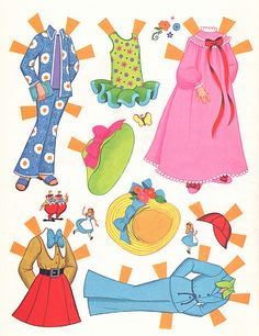 Alice in Wonderland Paper Dolls by Sherri DuPree Bemis, via Flickr