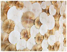 DIY Paper Rosette photo/wall installation