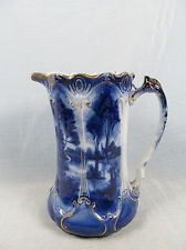 c Flow Blue Tankard Flow Blue China, Blue And White China, Love Blue, Blue Dishes, White Dishes, Chinoiserie, Vases, Art Chinois, Chinese Patterns