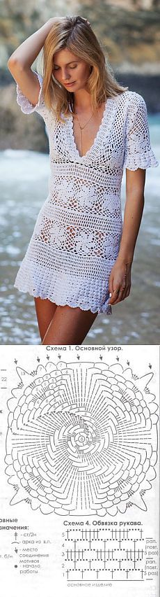 Crochet Clothing Patterns For Beginners toward Crochet Dress Dishcloth Pattern among Long Sleeve Crochet Dresses For Sale, Crochet Dress For Dolls Free Pattern Beau Crochet, Mode Crochet, Crochet Tunic, Crochet Clothes, Crochet Lace, Crochet Stitches, Crochet Patterns, Crochet Dresses, Clothing Patterns