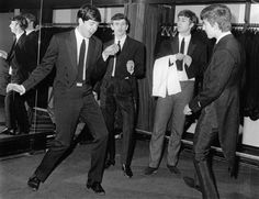 The Beatles circa early 60's. Twist and Shout Paulie!