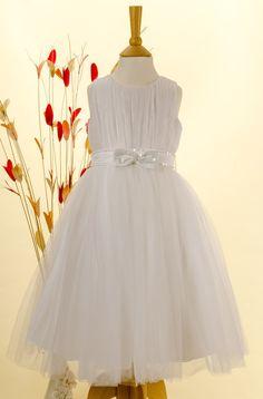 Flora Girls Hoopless Net Cotton-Lined Petticoat//Bridesmaid Skirt//Childs Occasion Underskirt