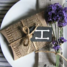 Personalised Rustic Style Wedding Favours