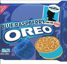 Oreo Entry #1 Blue Raspberry Weird Oreo Flavors, Pop Tart Flavors, Cookie Flavors, Oreo Pop Tarts, Chocolate Tarts, Oreos, Salted Caramel Fudge, Salted Caramels, Sleepover Snacks