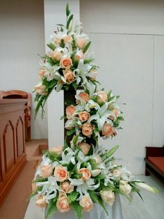 For XV years or communion it is a good option Easter Flower Arrangements, Flowe . Easter Flower Arrangements, Flower Arrangement Designs, Funeral Flower Arrangements, Beautiful Flower Arrangements, Unique Flowers, Colorful Flowers, Floral Arrangements, Beautiful Flowers, White Flowers