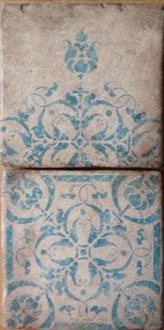 Share: 			  by Filmore Clark  West Hollywood, CA, US 90069 · 252 photos  Mediterranean [ Visit Store » ]  Maison Collection ~ La Boheme in teal handpainted terracotta is wonderful for any interior wall or floor. Add just a touch or allot pattern to any room.