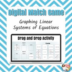 This activity is also included in: Solving Two Variable Systems DIGITAL Bundle - Distance Learning*This is the digital version of my Graphing Systems of Equations Cut and Paste Activity activity! Great to use for Distance Learning or Sub Plans!*This NO PREP DIGITAL activity uses Google Slides to pra... Algebra Activities, Learning Activities, Rational Function, Simplifying Fractions, Digital Word, Systems Of Equations, Word Puzzles, Matching Games, Math Classroom