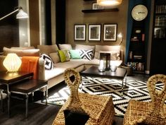 My first room I got to design for IKEA. Style: popular modern. Bold, dark, ethnic.