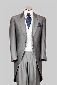 Stylish grey groomswear with a choice of accessories from Simon James