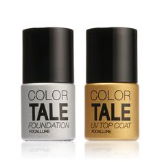 FOCALLURE  2Pcs/Lot UV Top Coat + UV Base Coat Foundation for UV Gel Polish Top it off Long Lasting Bling Nail Gel 12ml