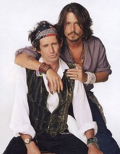 Johnny Depp Photo: Johnny Depp and Keith Richards Keanu Reaves, Johnny Depp Pictures, Celebrity Gallery, Captain Jack, Jack Sparrow, Hot Actors, Keith Richards, Johnny Was, Celebs