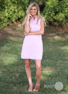 Sweetest Devotion Seersucker Dress in Pink | Monday Dress Boutique