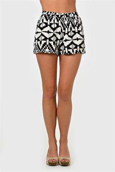 Ikat Ya' Lookin' Shorts - Black