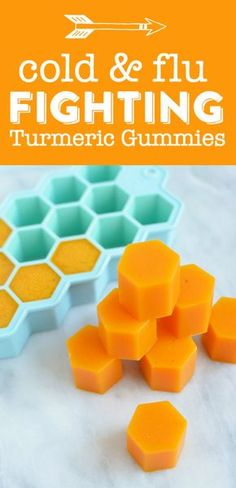 Homemade Turmeric Gummies - These healing DIY turmeric gummies will fight cold, flu and inflammation!